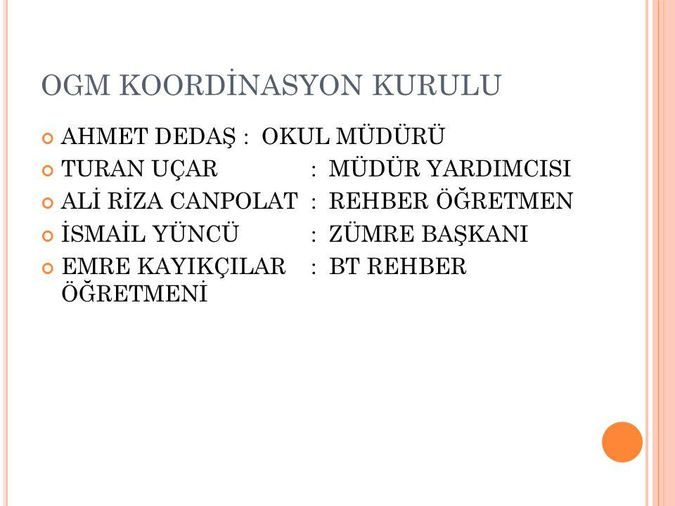 OGM KOORDİNASYON KURULU