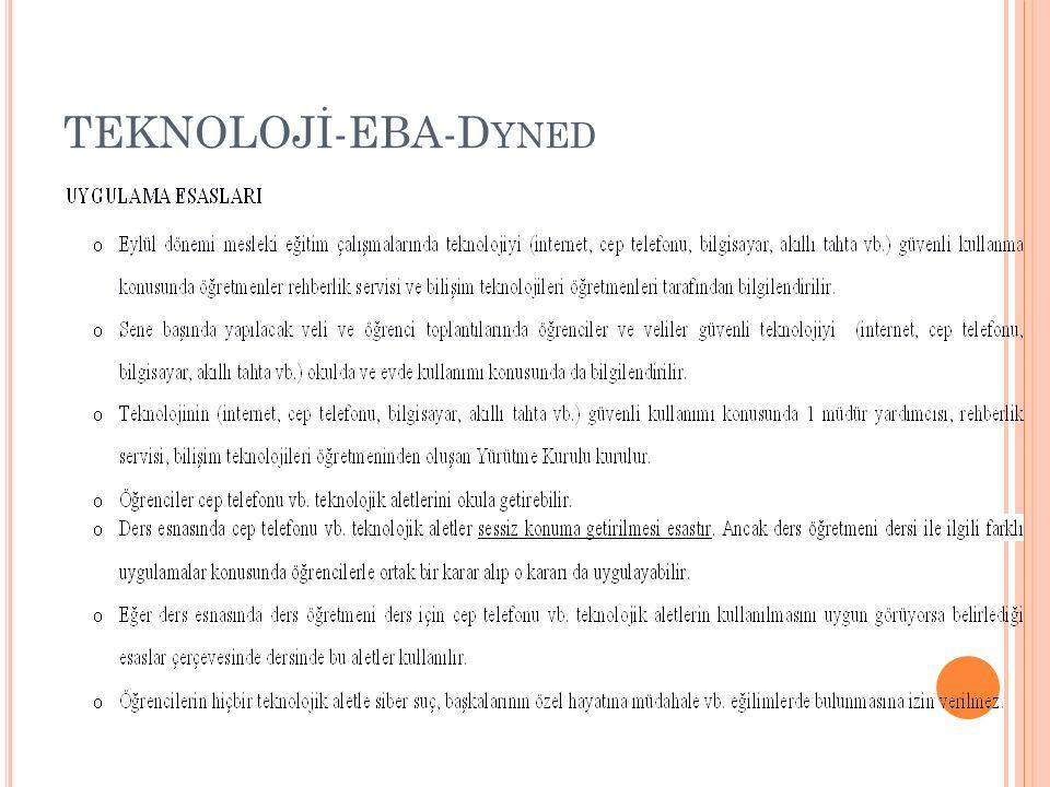 TEKNOLOJİ-EBA-Dyned