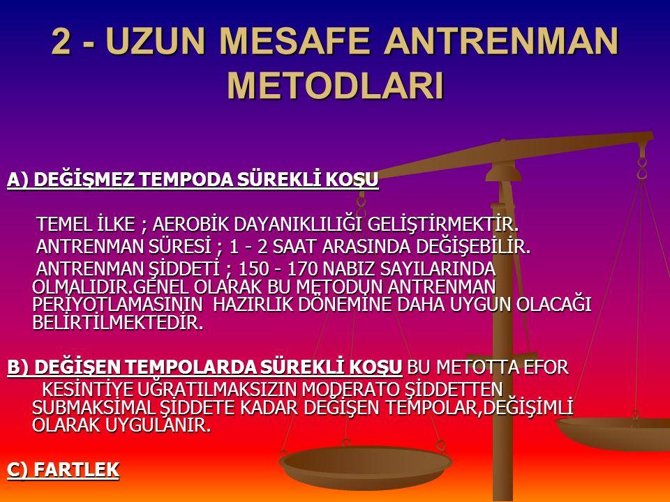 2 - UZUN MESAFE ANTRENMAN METODLARI