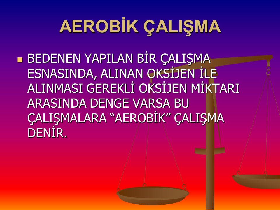 AEROBİK ÇALIŞMA