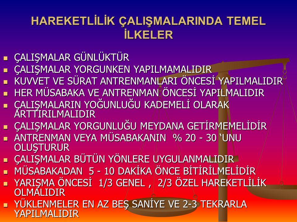 HAREKETLİLİK ÇALIŞMALARINDA TEMEL İLKELER