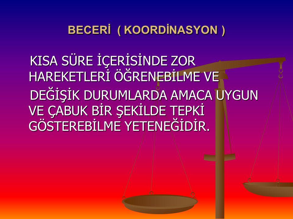 BECERİ ( KOORDİNASYON )