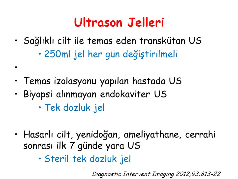 Ultrason Jelleri Sağlıklı cilt ile temas eden transkütan US