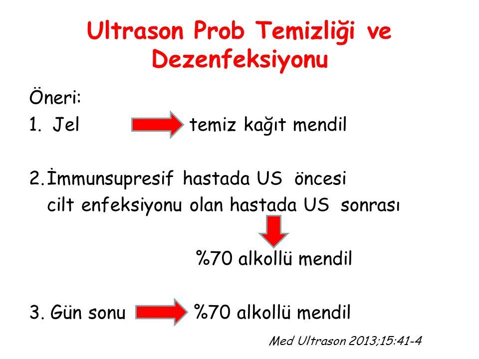 Ultrason Prob Temizliği ve Dezenfeksiyonu