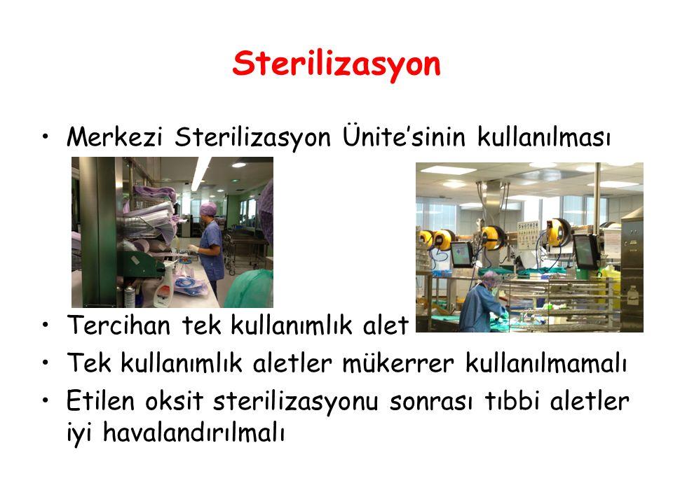 Sterilizasyon Merkezi Sterilizasyon Ünite'sinin kullanılması