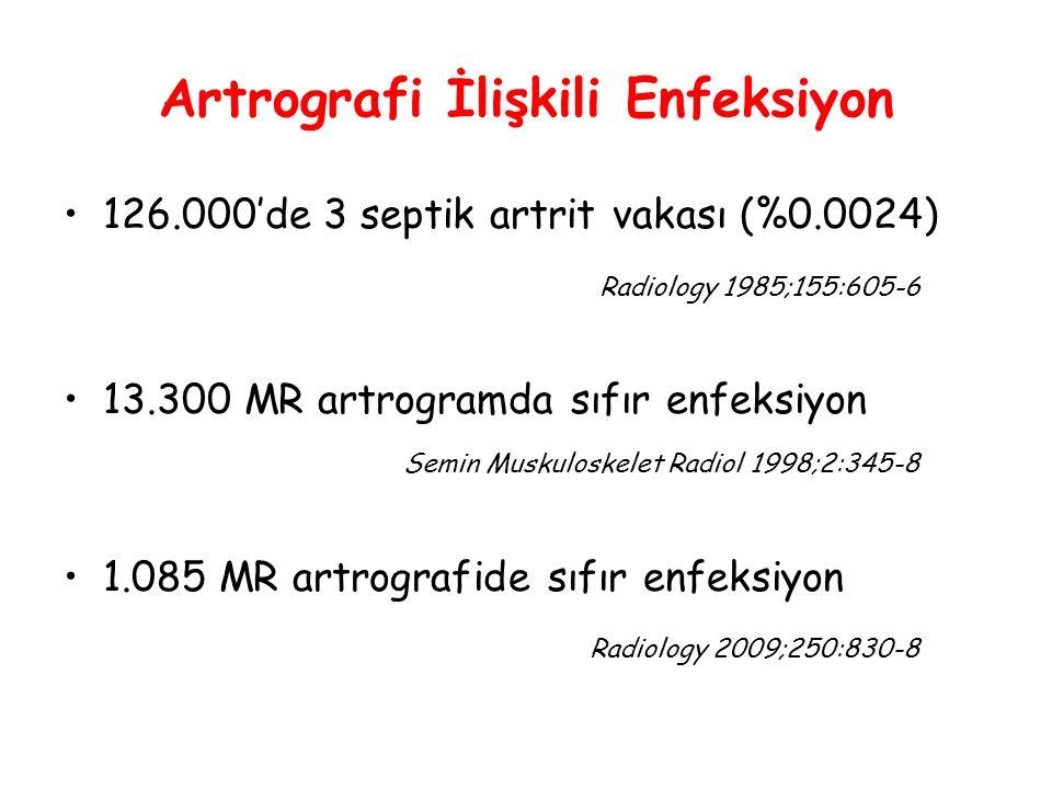Artrografi İlişkili Enfeksiyon