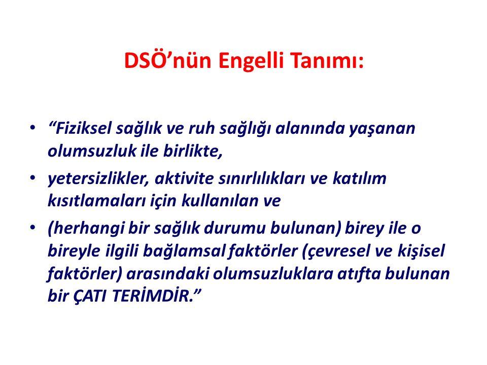 DSÖ'nün Engelli Tanımı: