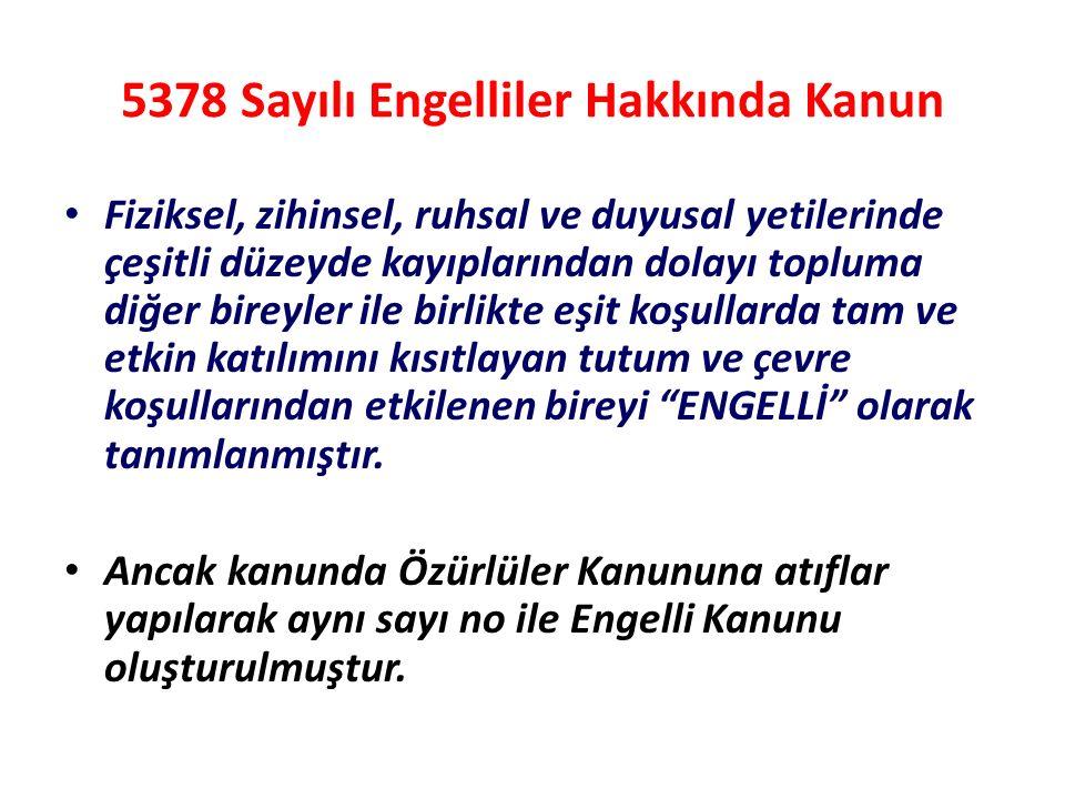 5378 Sayılı Engelliler Hakkında Kanun