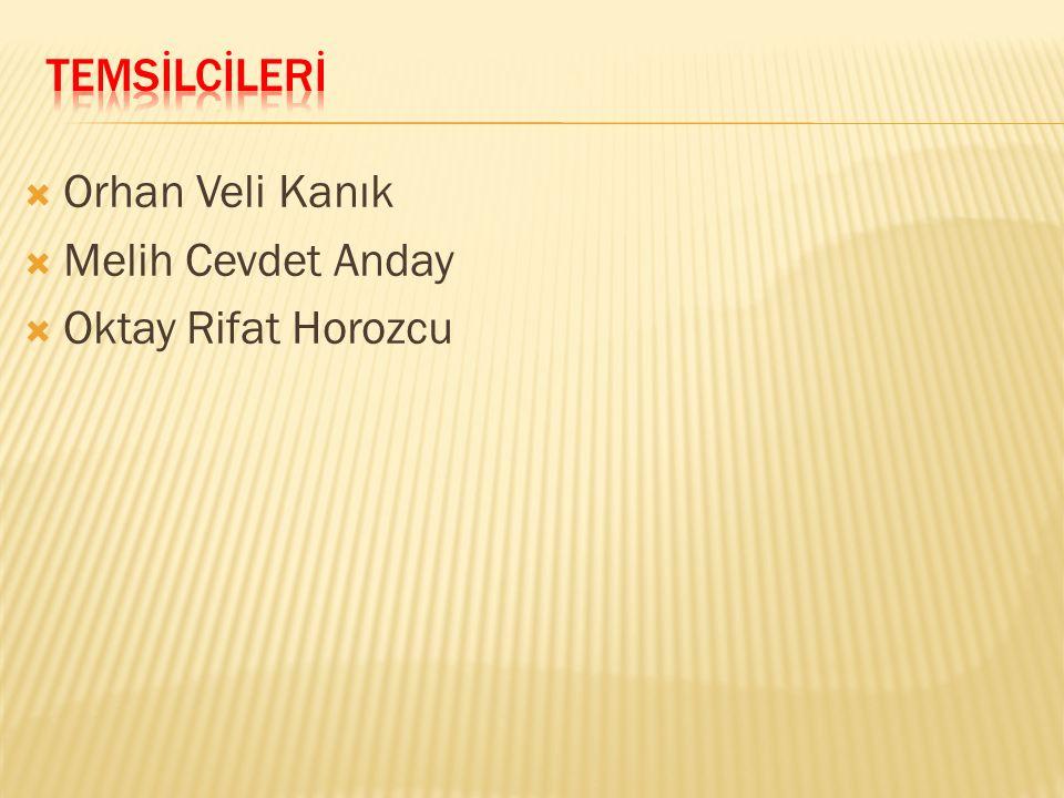 TEMSİLCİLERİ Orhan Veli Kanık Melih Cevdet Anday Oktay Rifat Horozcu