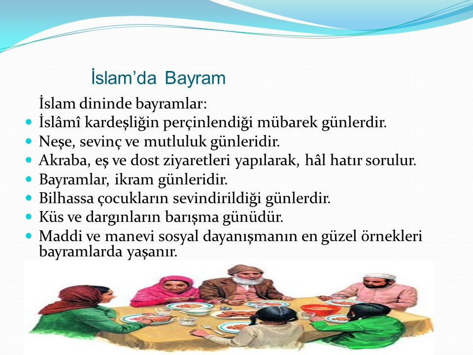 İslam'da Bayram İslam dininde bayramlar: