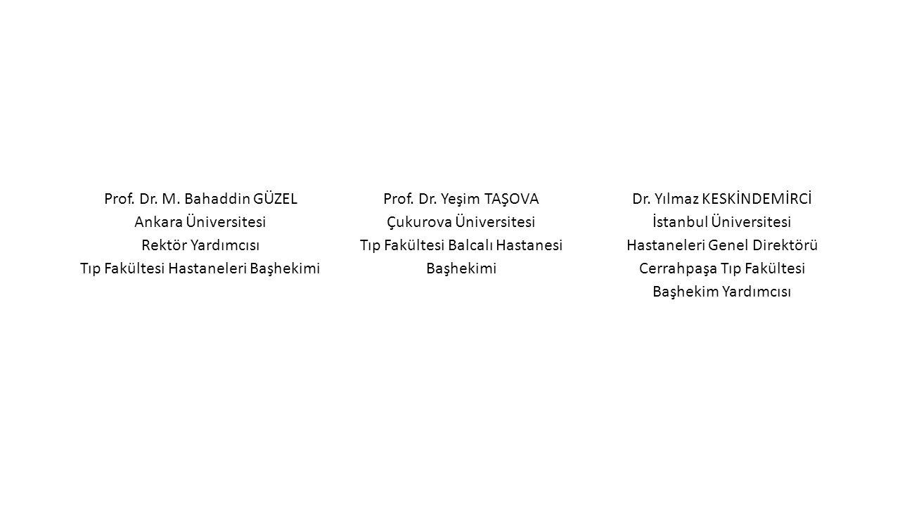 Prof. Dr. M. Bahaddin GÜZEL Ankara Üniversitesi Rektör Yardımcısı