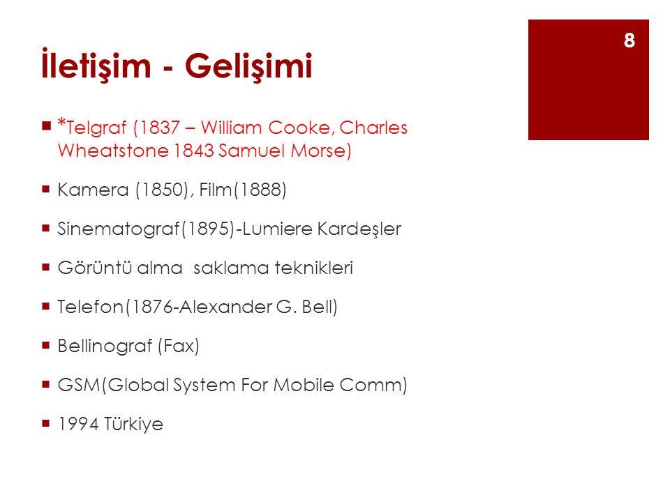 İletişim - Gelişimi Gazetcilik Avrupa'da ve Türkiye'de gazetecilik