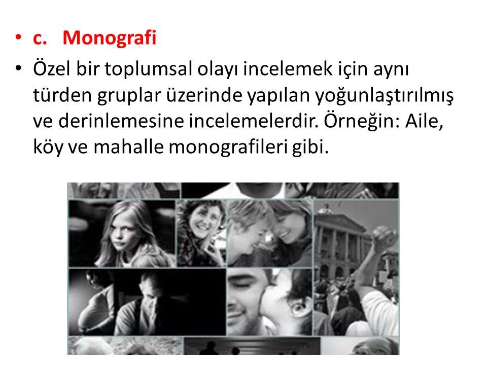 c. Monografi