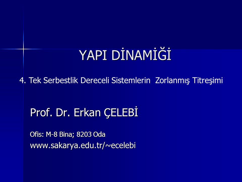 YAPI DİNAMİĞİ Prof. Dr. Erkan ÇELEBİ