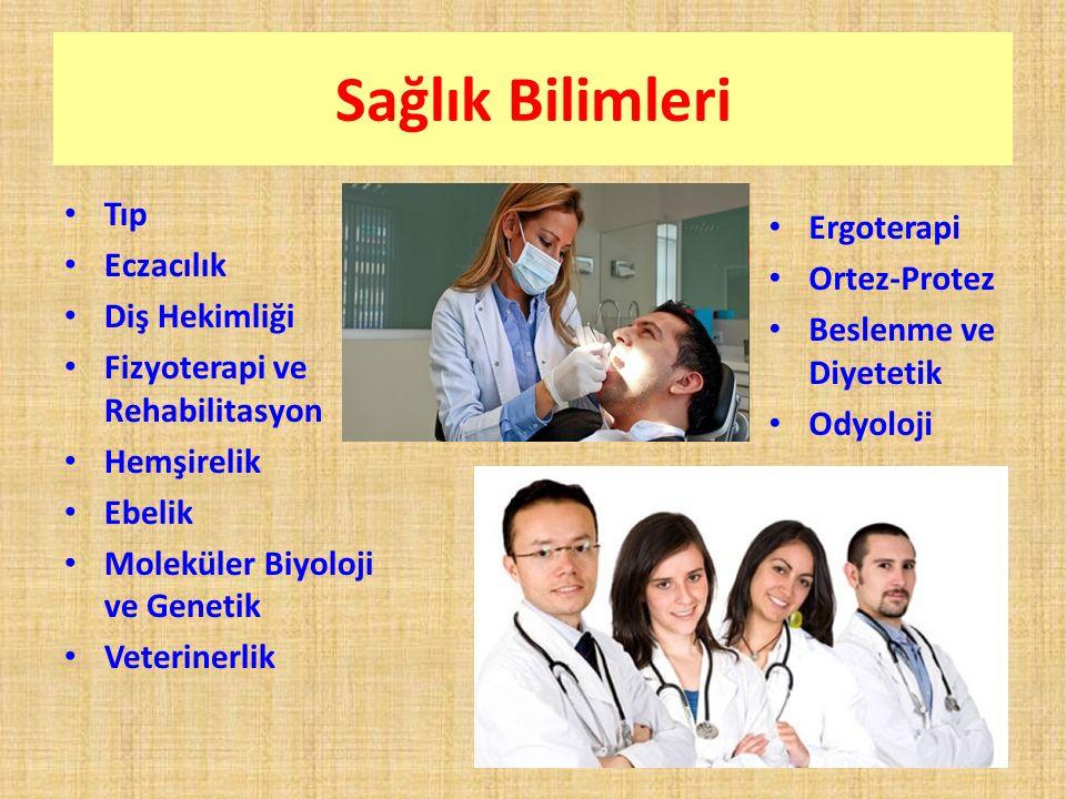 Sağlık Bilimleri Tıp Ergoterapi Eczacılık Ortez-Protez Diş Hekimliği