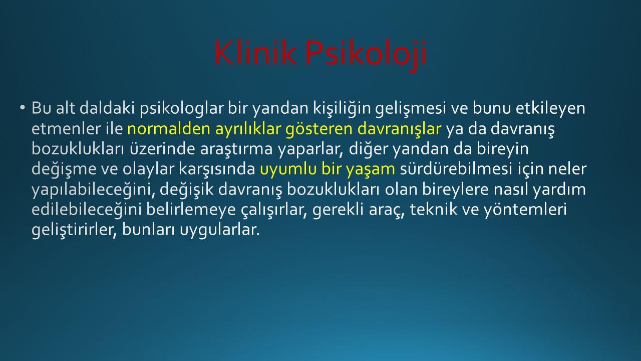 Klinik Psikoloji