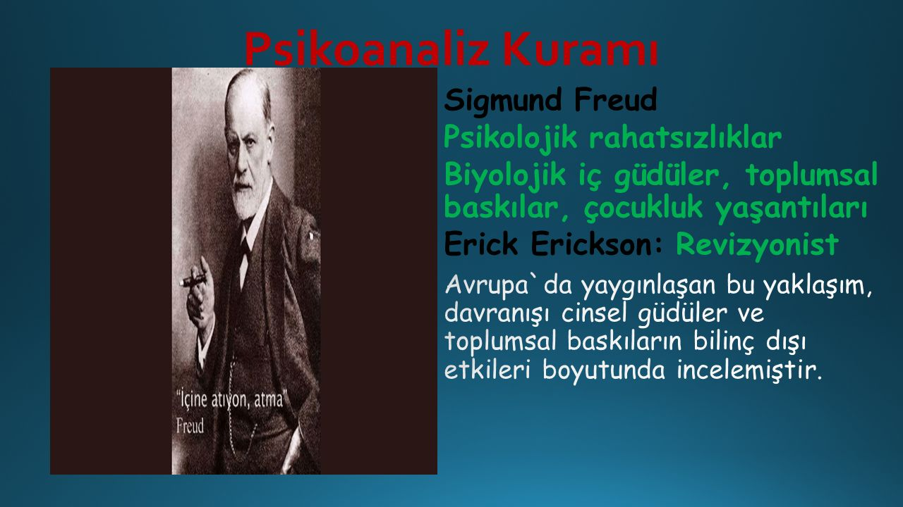 Psikoanaliz Kuramı Sigmund Freud Psikolojik rahatsızlıklar