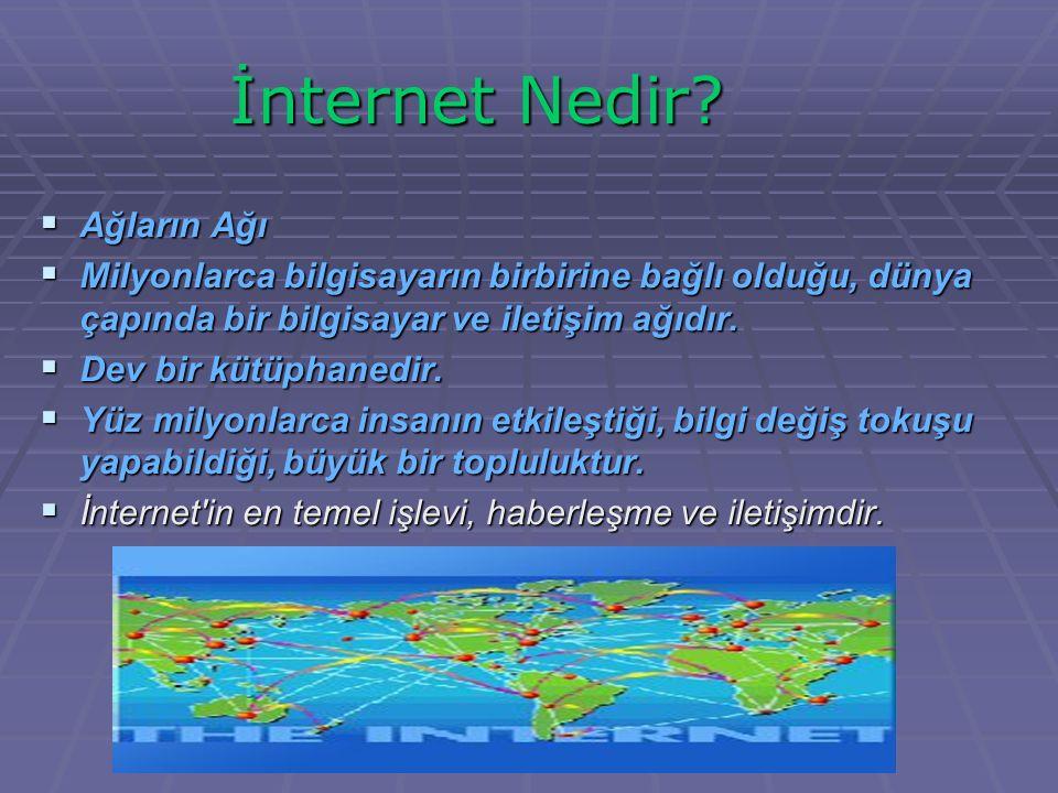 İnternet Nedir Ağların Ağı