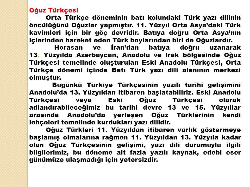 Oğuz Türkçesi