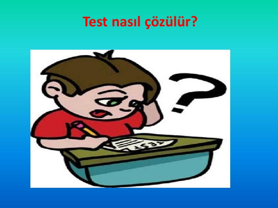 Test nasıl çözülür