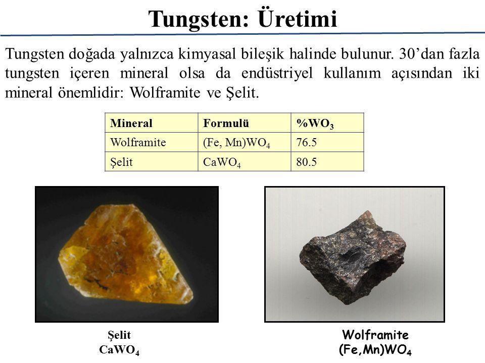 Tungsten: Üretimi