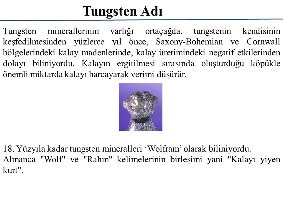 Tungsten Adı