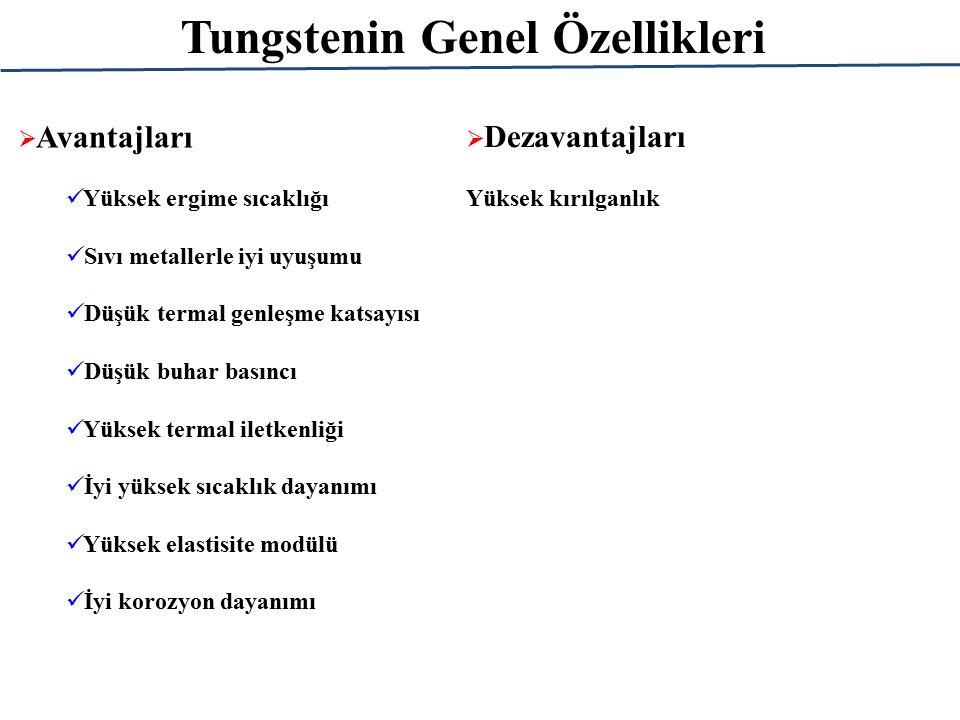 Tungstenin Genel Özellikleri