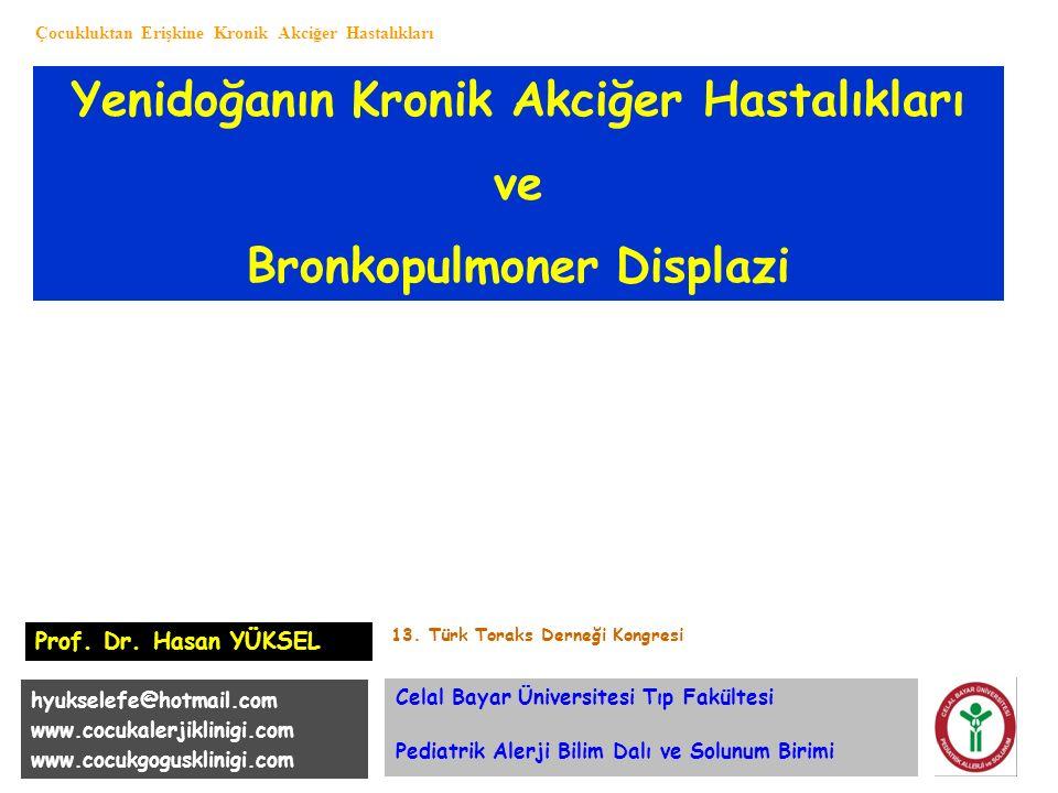 Yenidoğanın Kronik Akciğer Hastalıkları Bronkopulmoner Displazi
