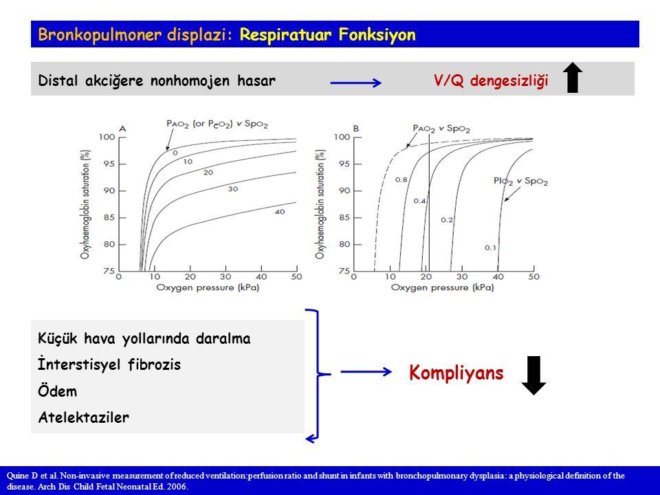 Kompliyans Bronkopulmoner displazi: Respiratuar Fonksiyon