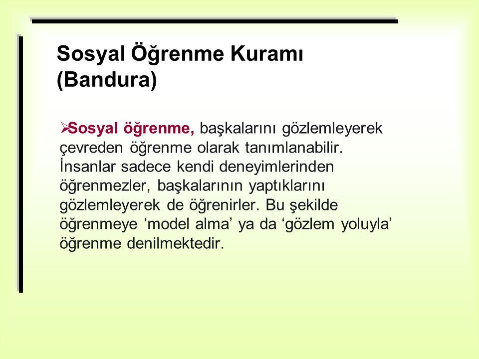 Sosyal Öğrenme Kuramı (Bandura)