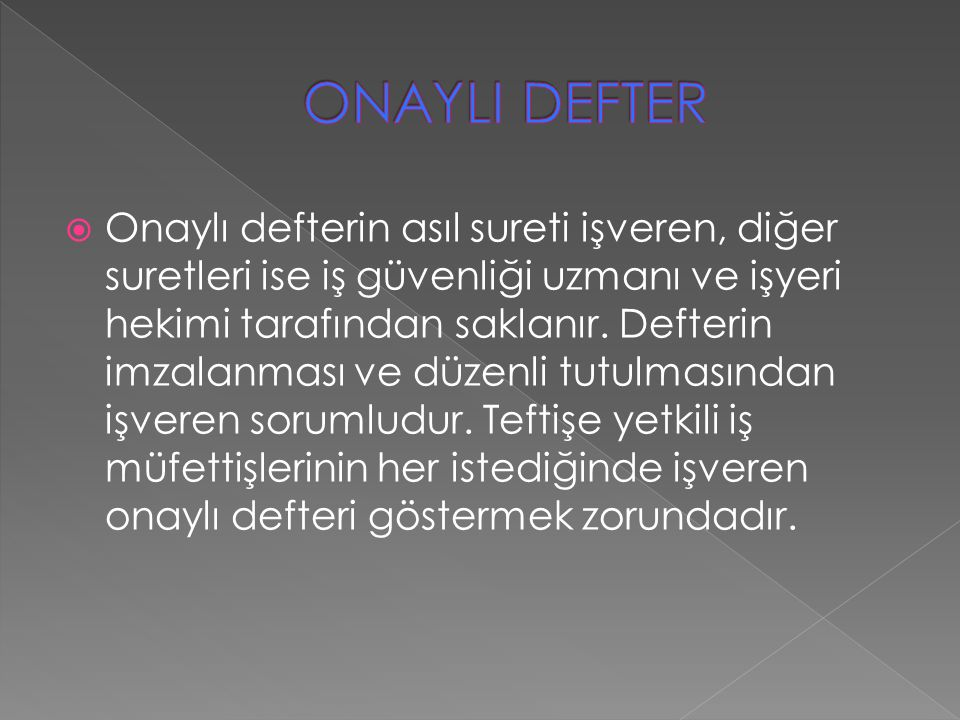 ONAYLI DEFTER