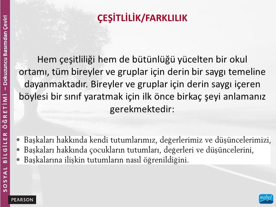 ÇEŞİTLİLİK/FARKLILIK