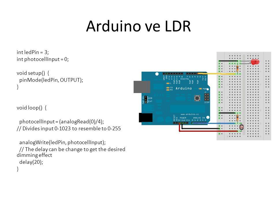 Arduino ve LDR
