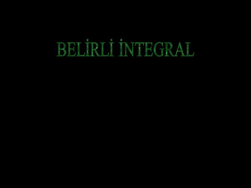 BELİRLİ İNTEGRAL