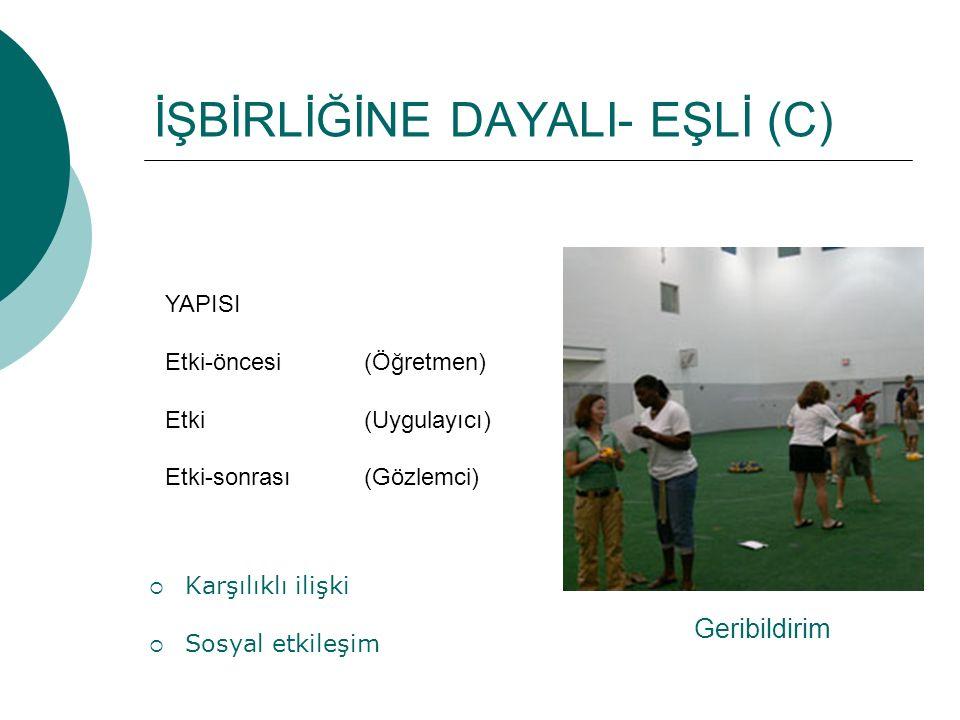 İŞBİRLİĞİNE DAYALI- EŞLİ (C)
