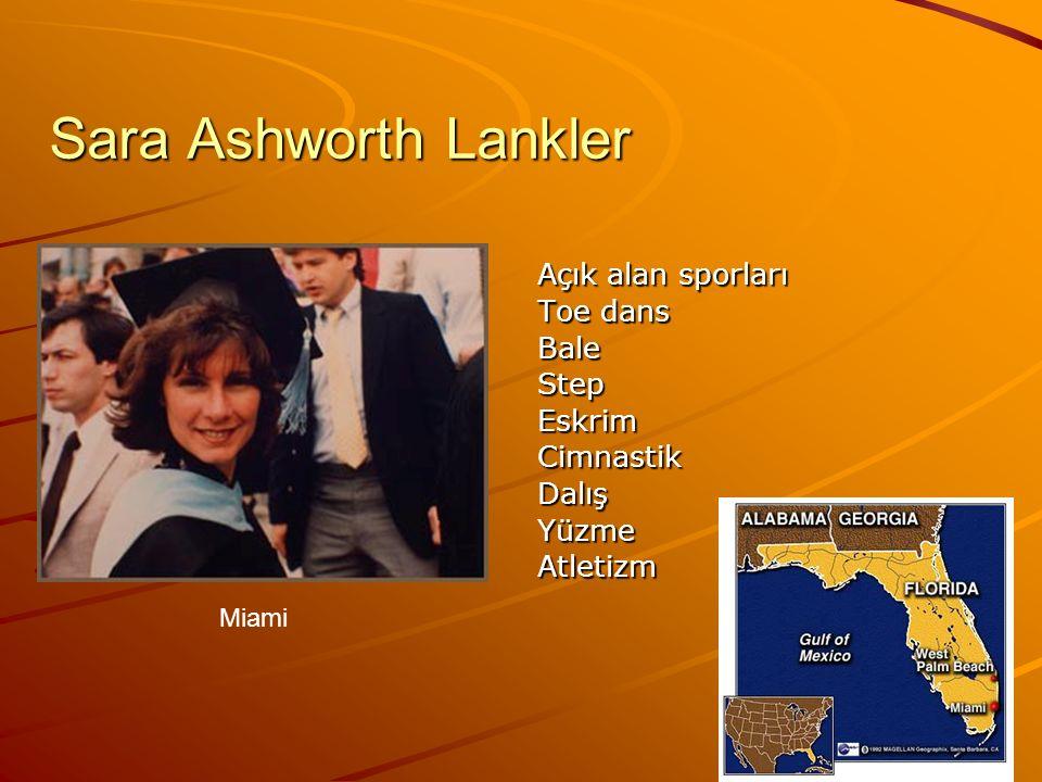 Sara Ashworth Lankler Toe dans Bale Step Eskrim Cimnastik Dalış Yüzme