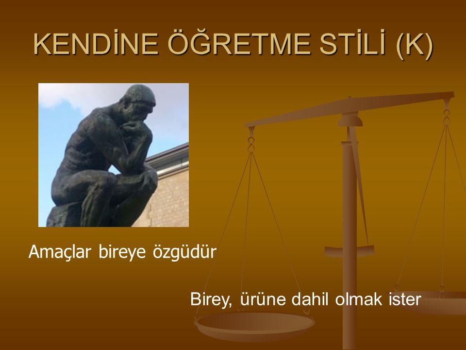 KENDİNE ÖĞRETME STİLİ (K)