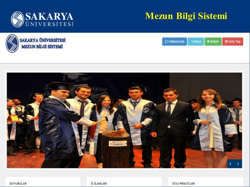 Mezun Bilgi Sistemi www.sakarya.edu.tr