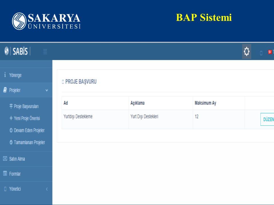 BAP Sistemi www.sakarya.edu.tr