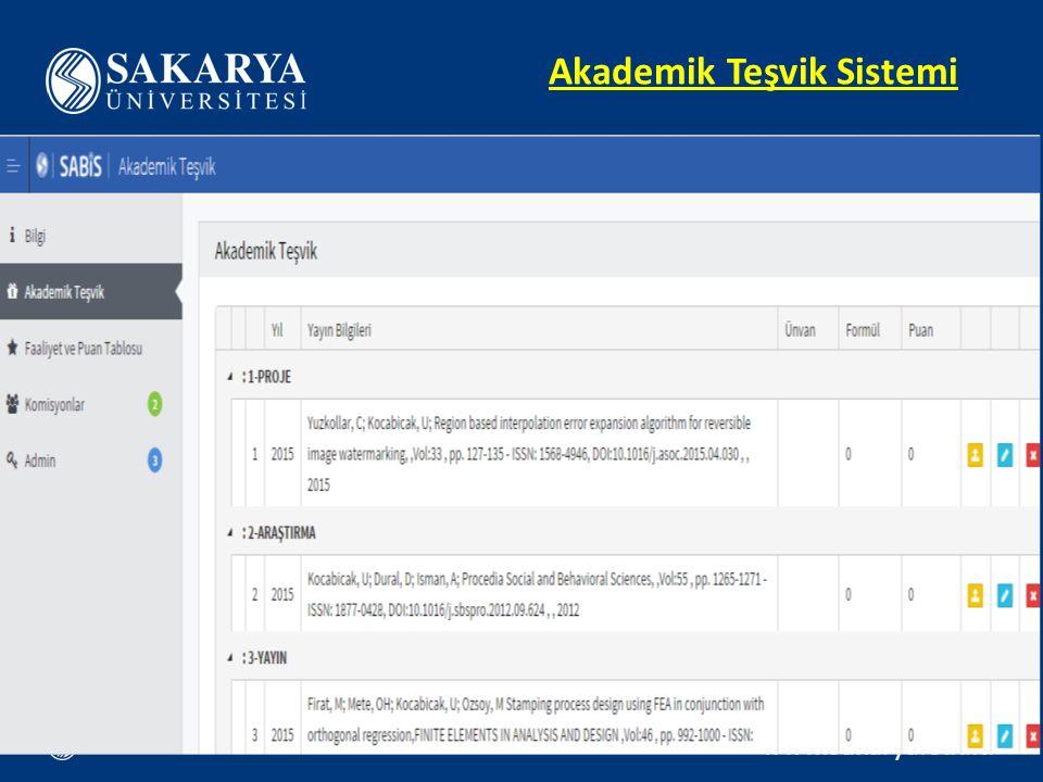 Akademik Teşvik Sistemi