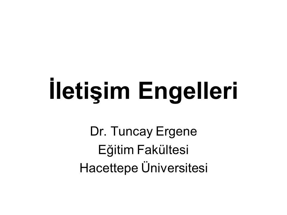 Dr. Tuncay Ergene Eğitim Fakültesi Hacettepe Üniversitesi