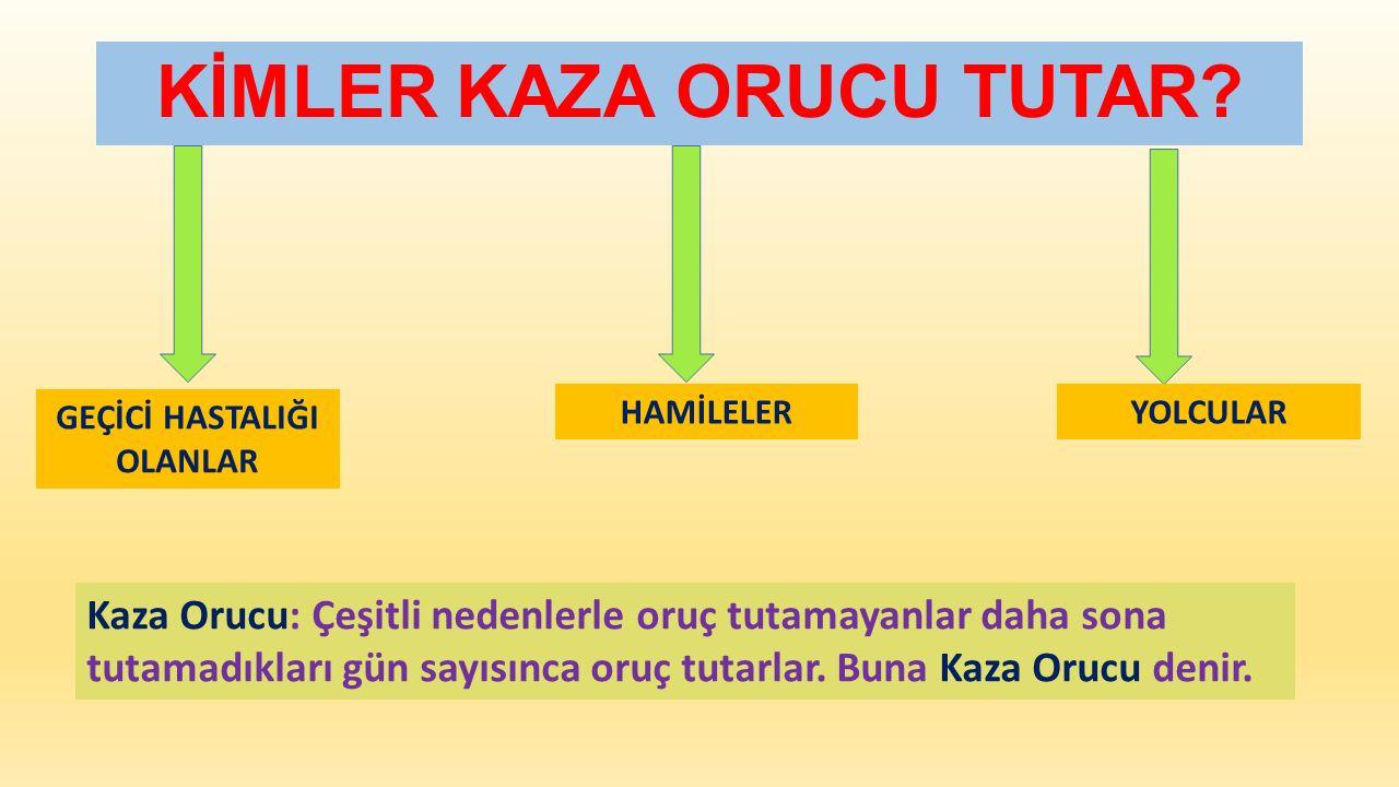 KİMLER KAZA ORUCU TUTAR