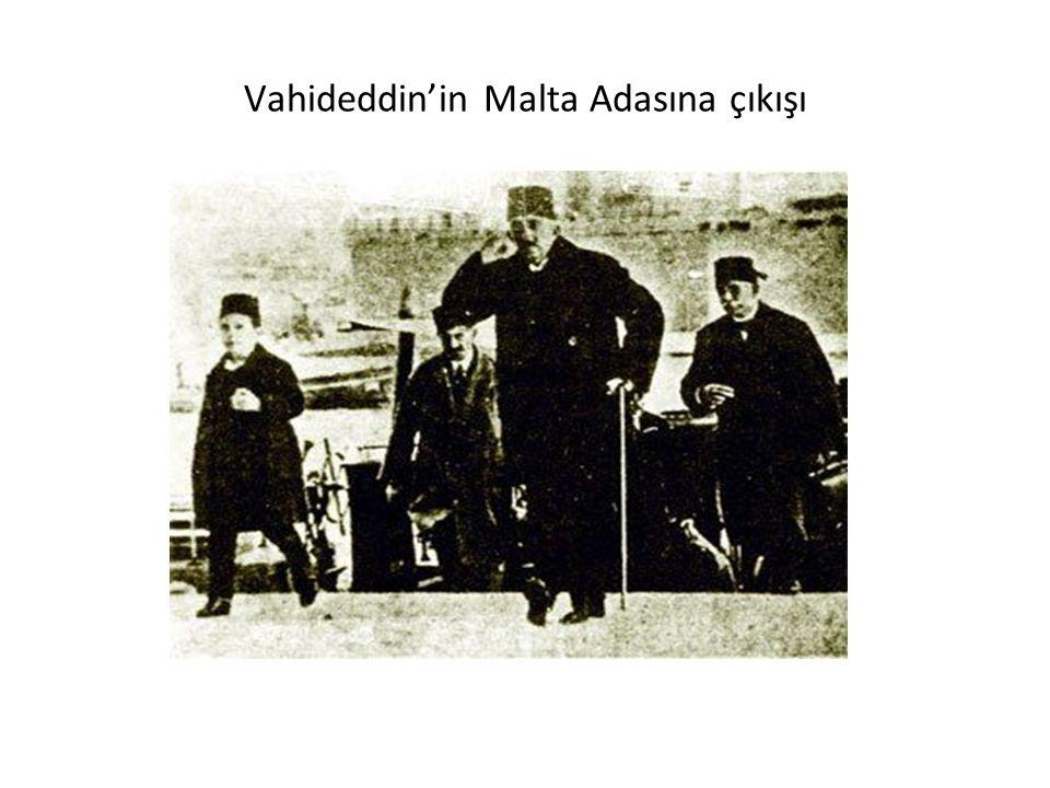 Vahideddin'in Malta Adasına çıkışı
