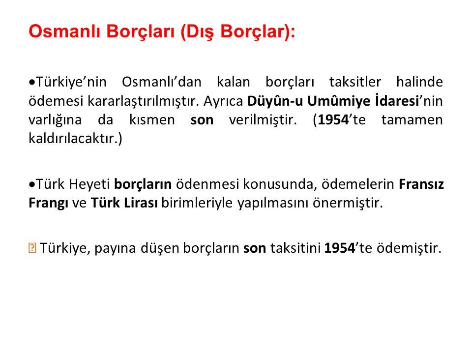 Osmanlı Borçları (Dış Borçlar):