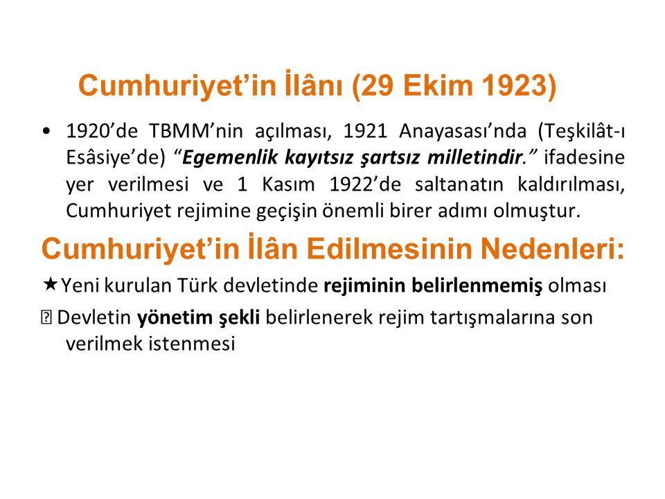 Cumhuriyet'in İlânı (29 Ekim 1923)