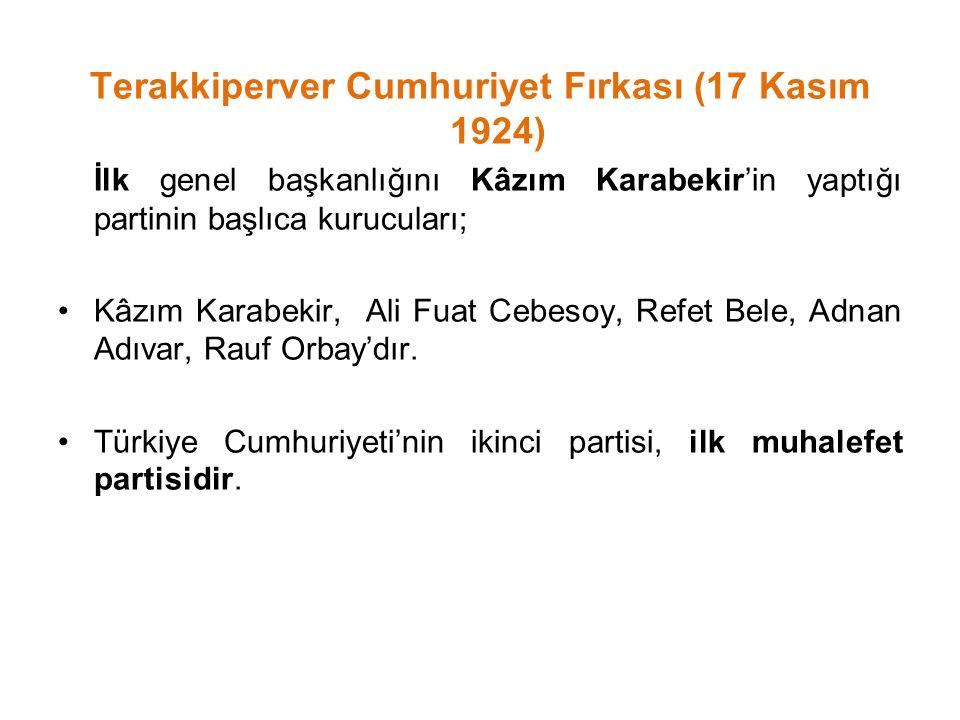 Terakkiperver Cumhuriyet Fırkası (17 Kasım 1924)