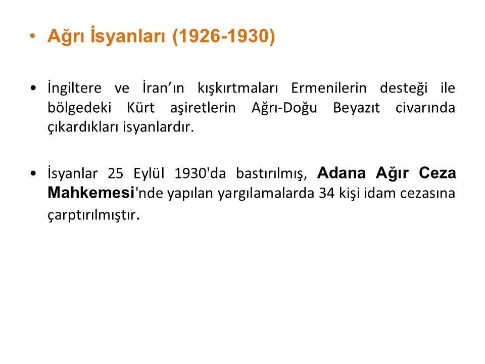 Ağrı İsyanları (1926-1930)