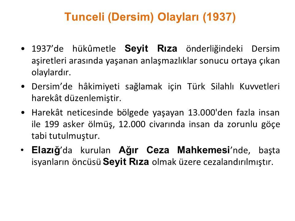 Tunceli (Dersim) Olayları (1937)