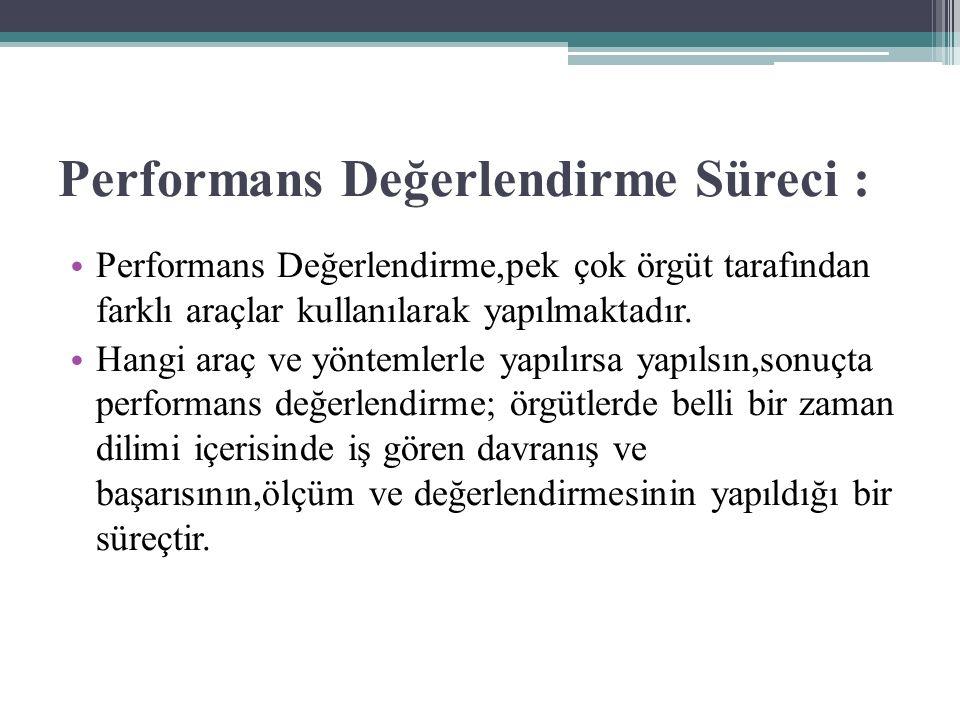Performans Değerlendirme Süreci :