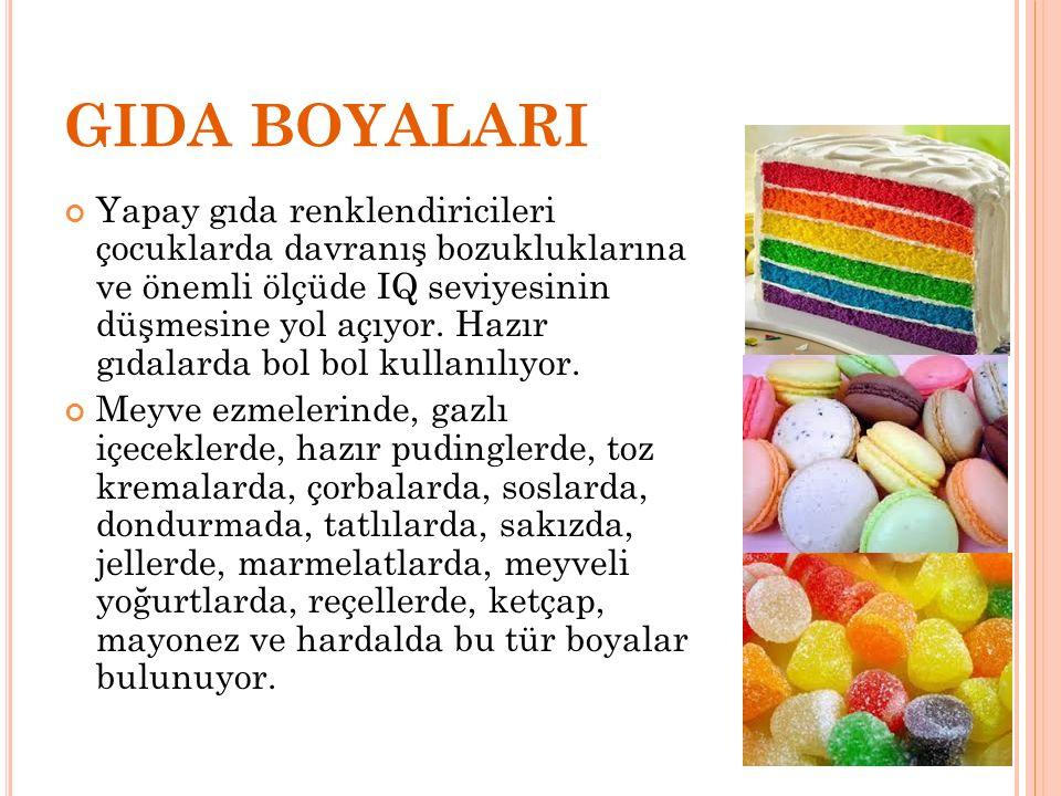 GIDA BOYALARI